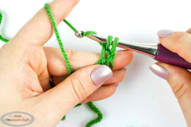 finishing to crochet the loop stitch