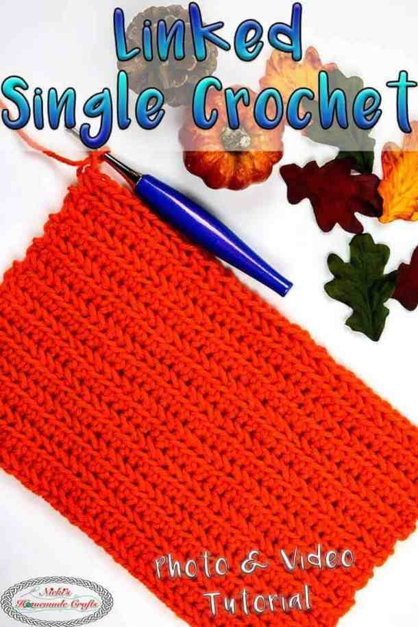 Linked Single Crochet tutorial