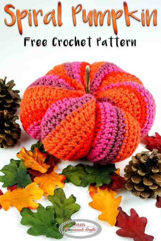 Spiral Pumpkin Free Crochet Pattern Halloween Fall