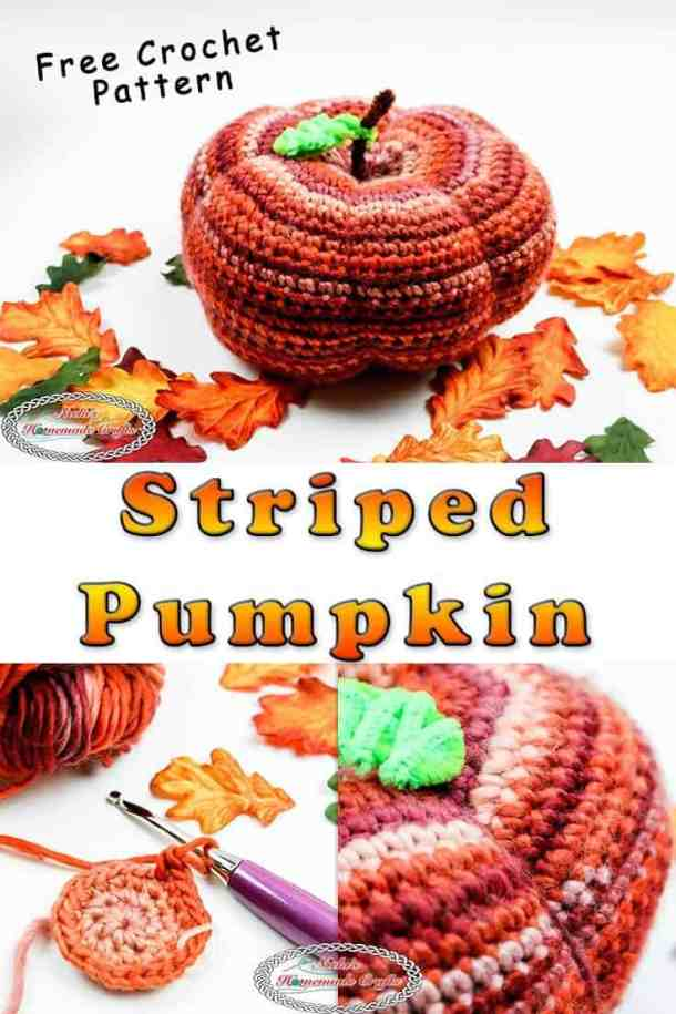 Striped Pumpkin crocheted
