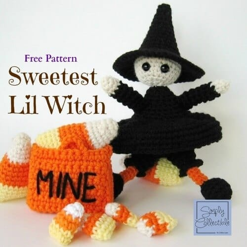 free halloween crochet witch amigurumi pattern
