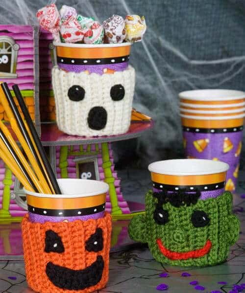 free halloween monster cozy crochet pattern