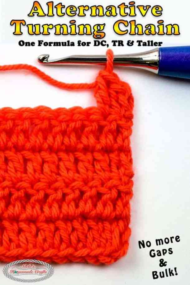 Crochet the Alternative Turning Chain for DC, TR, DTR