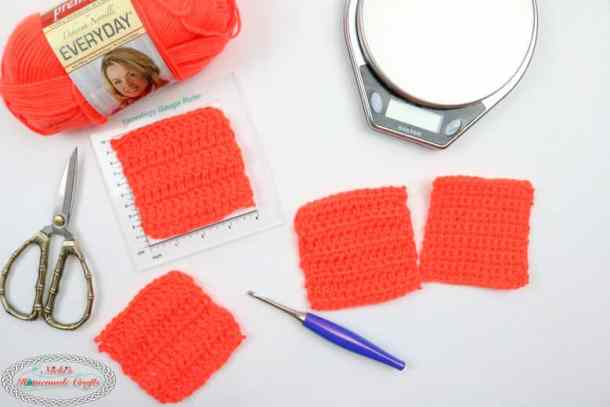 Basic crochet stitch swatches for yarn eater experiment