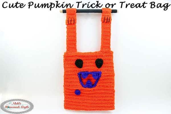 Cute Pumpkin Trick or Treat Bag Free Crochet Pattern