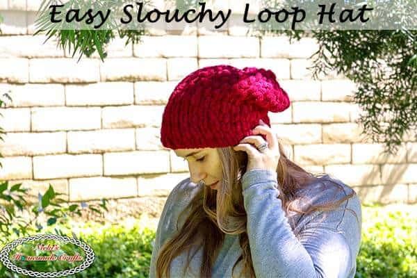 knit Easy Slouchy Loop Hat
