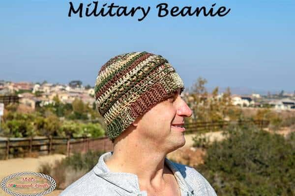 Military Beanie Army - Free Crochet Pattern