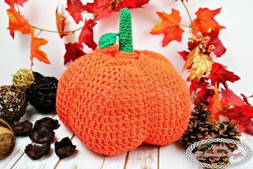 Secret Pumpkin Tissue Box Cover Free Crochet Pattern