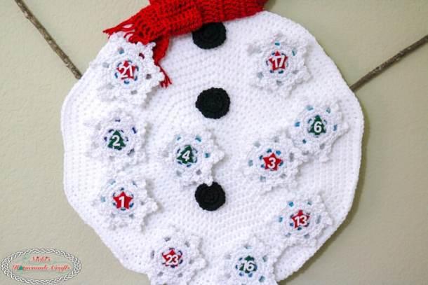 Snowman Advent Calendar Snowball