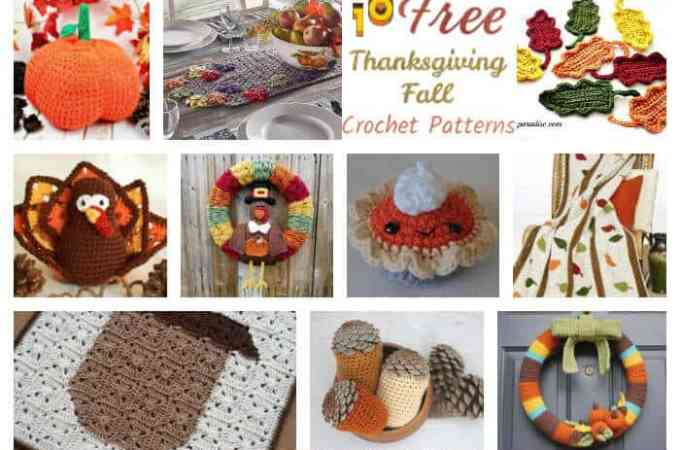 10 Thanksgiving and Fall Free Crochet Patterns Round Up