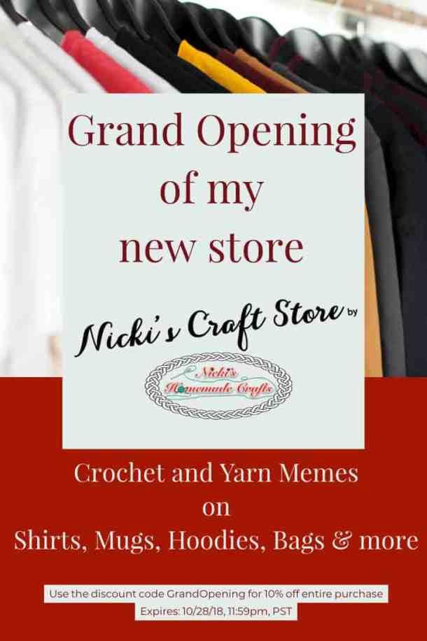 Grand Opening Nicki's Craft Store