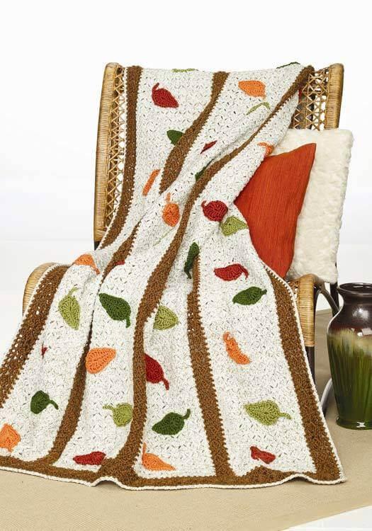 Bright Falling Leaves Afghan Free Crochet Pattern