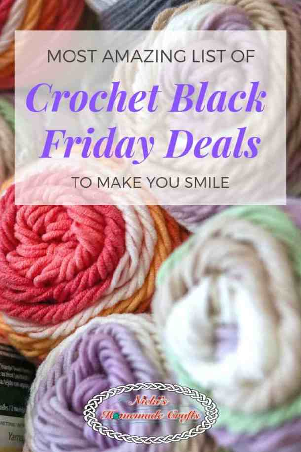 Crochet Black Friday till Cyber Monday Deals