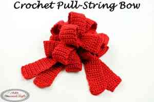 Pull String Bow - a Free Crochet Pattern