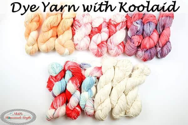 Dye Yarn with Koolaid easy and fast
