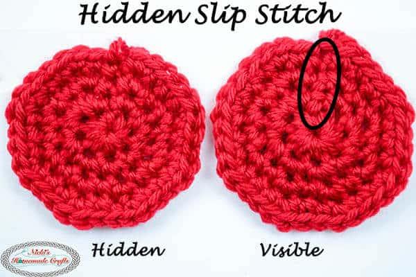 Hidden Slip Stitch - crochet no seam in rounds