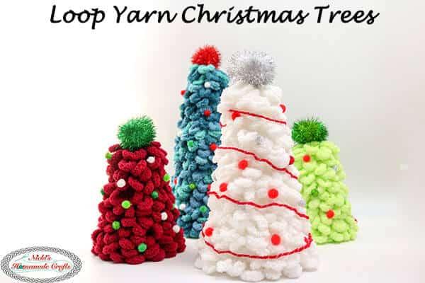 Loop Yarn Christmas Trees