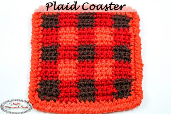 Plaid Coaster - Free Crochet Pattern