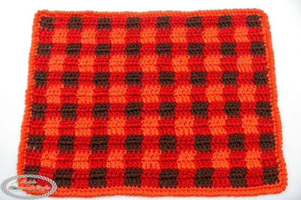 Plaid Placemat Free Crochet Pattern