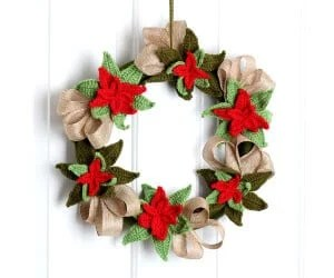 Christmas Poinsettia Wreath