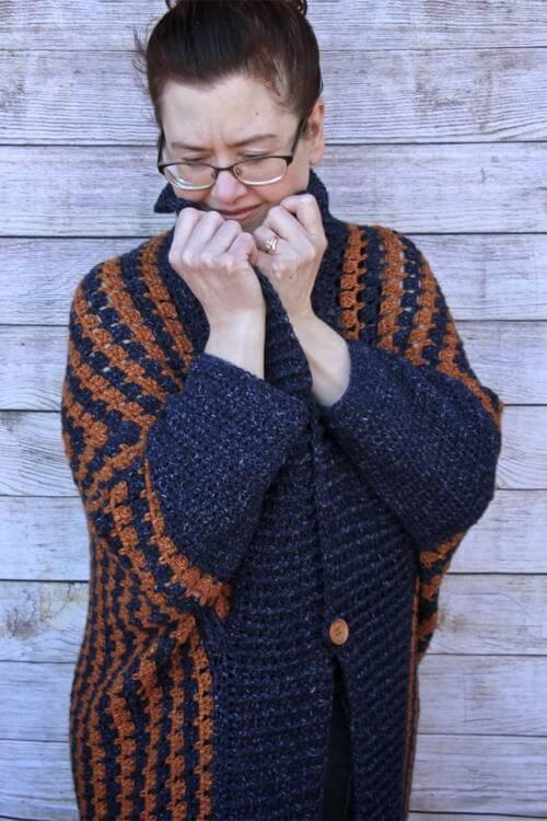 Comfy Kimono Blanket Crochet Cardigan
