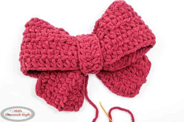 big soft crochet bow