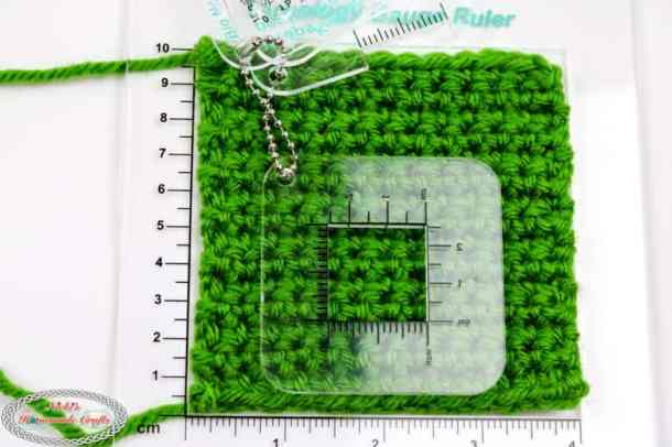 crochet gauge check