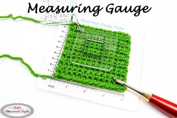 Measuring Gauge on Crochet