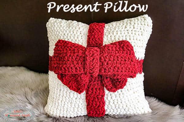 Crochet Present Pillow Free Pattern
