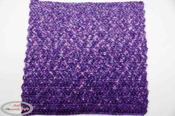 washcloth made with herringbone double crochet