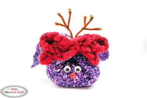 crochet reindeer washcloth gift idea