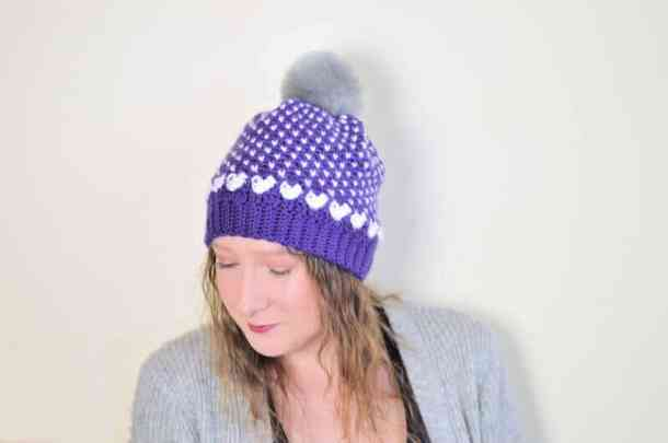 Falling in Love Beanie - Countdown to Valentine's Day