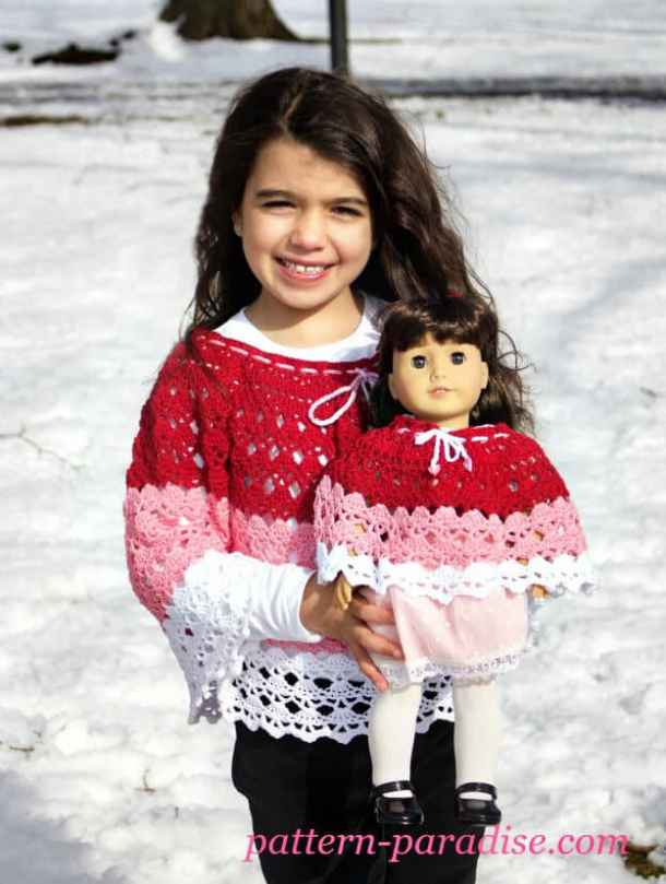 Abby Poncho - Free Crochet pattern - Countdown to Valentine's Day