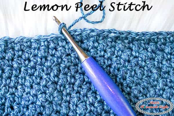 Crochet Lemon Peel Stitch