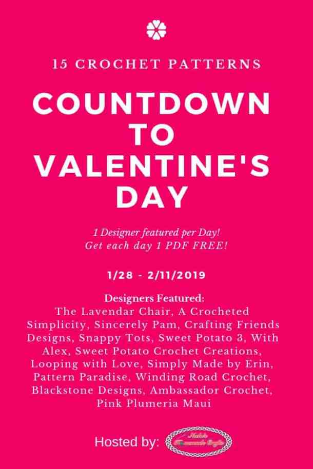 Countdown to valentine's Day with crochet patterns
