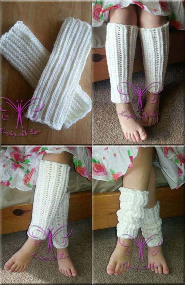 Love Bug Legwarmers - free crochet pattern - Countdown to Valentine's Day