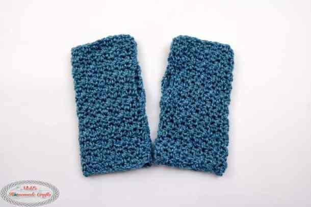 Lemon Peel Stitch for Fingerless Gloves