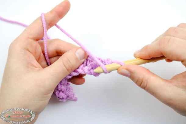 How to crochet the Tunisian Purl Stitch
