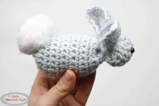 Cute Tiny Crochet Bunny from Square - Free Pattern