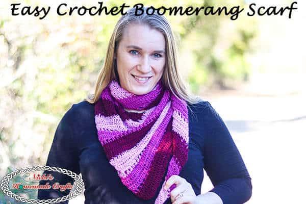 Easy Crochet Boomerang Scarf Pattern