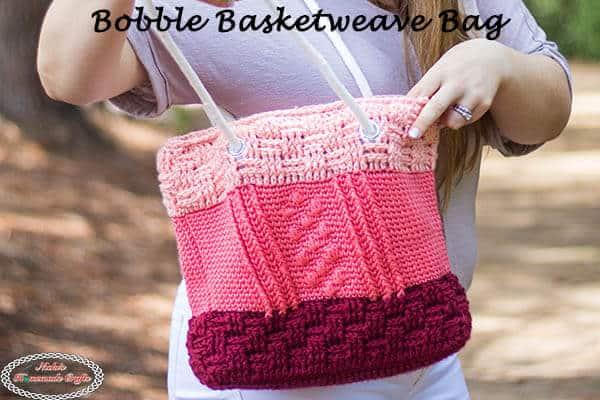 Bobble Basketweave Bag - Free Pattern as Crochet Along