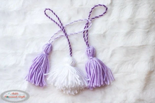 Tassels made with Tassel maker by Clover