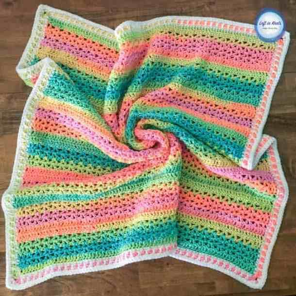 Unicorn Stripe Blanket