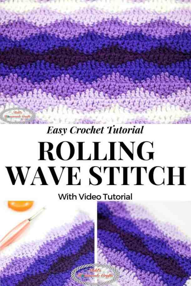 Crochet the Rolling Waves Stitch Tutorial