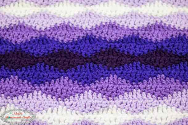 Close up of Rolling Waves Blanket
