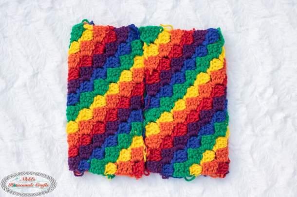C2C Rainbow Hat Crochet Pattern