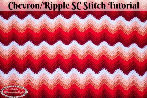 Chevron Single Crochet aka Ripple Single Crochet Stitch Tutorial Video