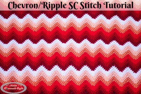 Chevron Single Crochet aka Ripple Single Crochet Stitch Tutorial Video