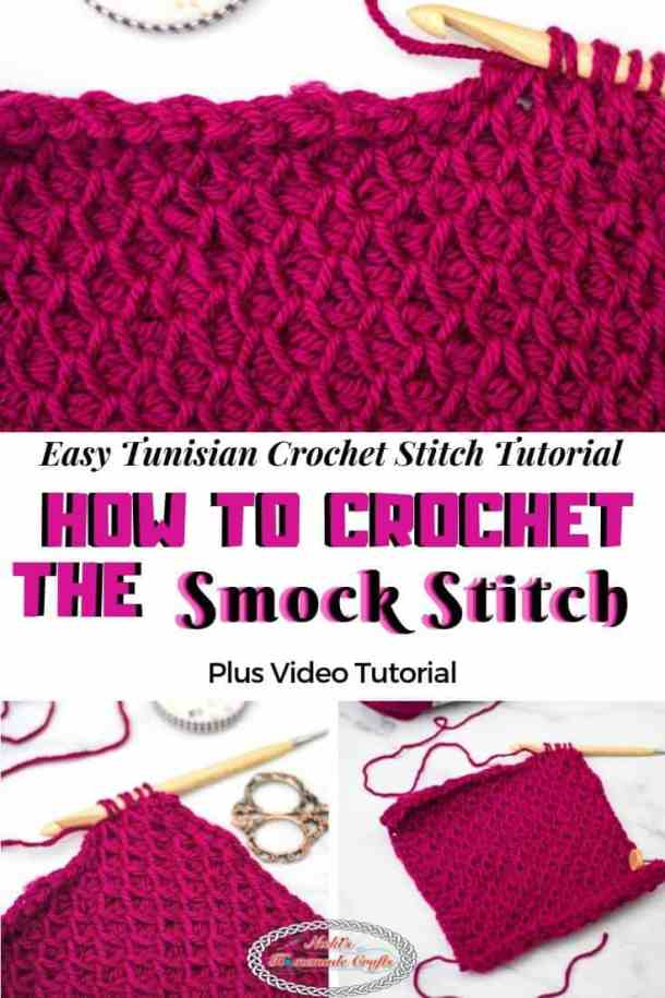 Tunisian Crochet Smock Stitch