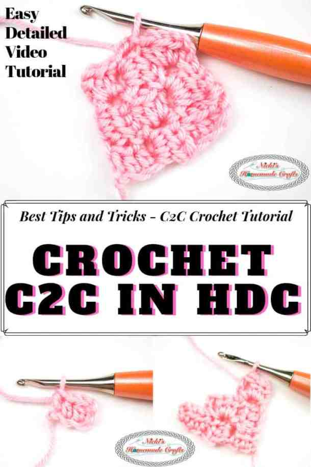 Crocheting C2C in HDC